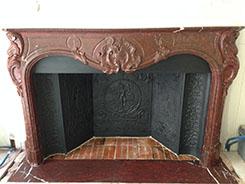 Installation de cheminée d'époque 18ème