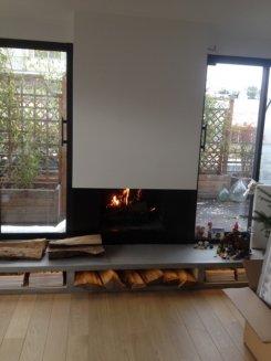 création cheminée moderne